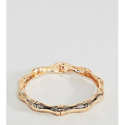 Asos curve Asos design curve bangle bracelet with chunky textured vintage detail in gold - gold