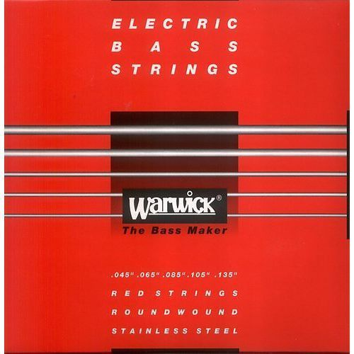 Warwick 42301 red lab stainless steel struny do gitary basowej 45-135