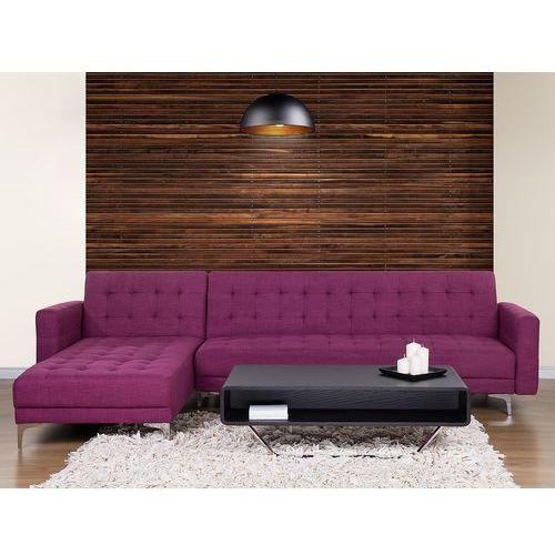 Beliani Sofa fioletowa - kanapa - tapicerowana - rozkładana - narożnik - aberdeen (7081455752181)