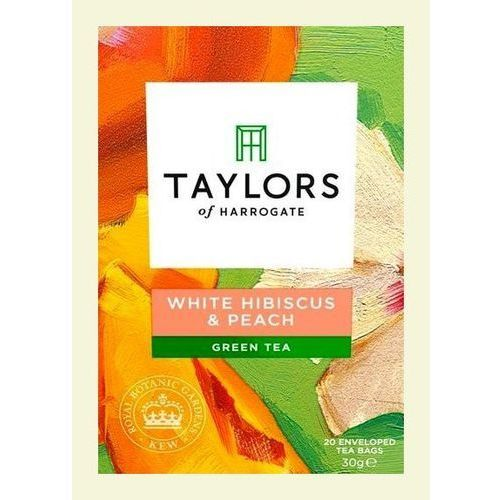 Taylors of harrogate, Taylors & kew white hibiscus & peach green teabags 20 per pack