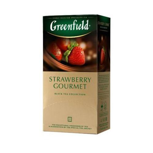 25x1,5g strawberry gourmet herbata czarna ekspresowa marki Greenfield