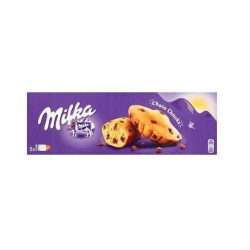 MILKA 140g Choco Chunks Ciastka biszkoptowe z kawałkami czekolady mlecznej