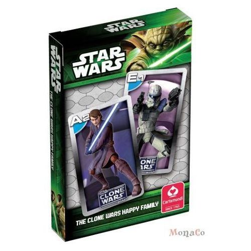 Karty STAR WARS Clone Wars - Kwartet - Cartamundi Karty STAR WARS Clone Wars - Kwartet - Cartamundi