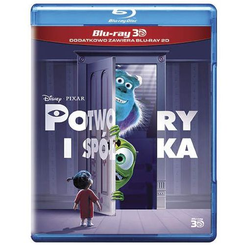 Potwory i spółka 3D (Blu-Ray) - Pete Docter, Lee Unkrich, David Silverman (7321917501392)
