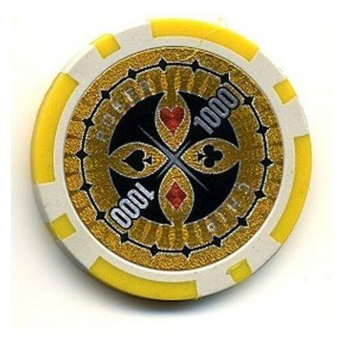Żeton do gry z nominałem 1000 kasyno poker marki Mks