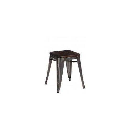 Stołek Paris Wood metal sosna szczotkowa, 94674