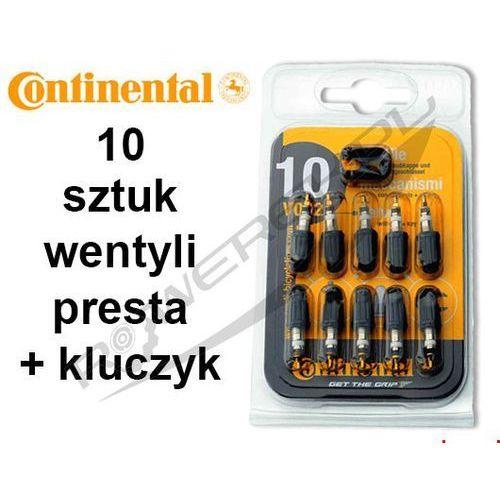 Continental Co0149690 wkład do wentyla presta 10 szt. z plastikowym kapturkiem + kluczyk