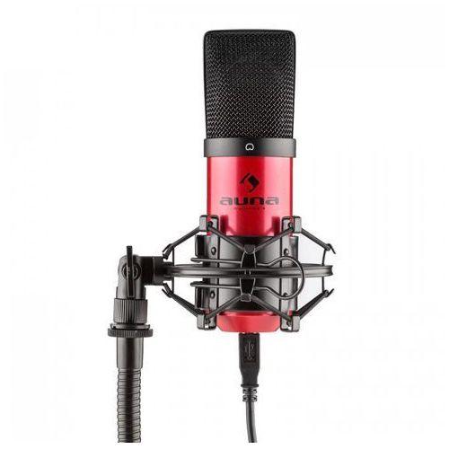 Mic-900-rd usb mikrofon pojemnościowyczerwony charakterystyka kardioidalna studyjny marki Auna