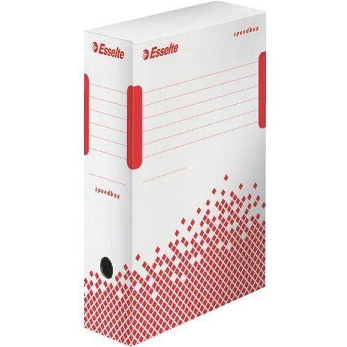 Pudło do archiwizacji speedbox 100 mm białe ekologiczne (g) - x07649 marki Esselte