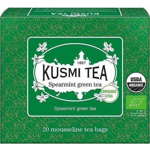Kusmi Herbata zielona z miętą spearmint w torebkach muślinowych 20 szt. (3585810082356)