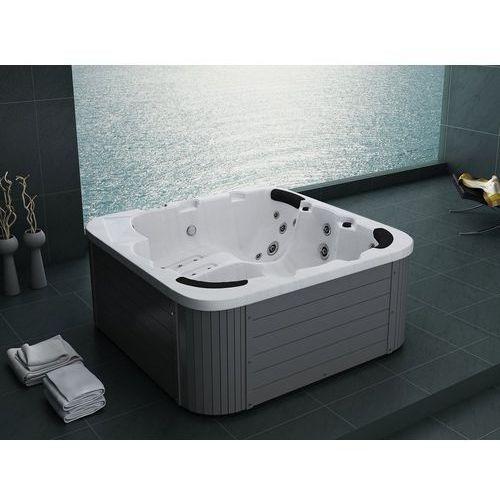 Zewnętrzne spa - ogrodowe - akryl i drewno - kolor srebrny sanremo marki Beliani