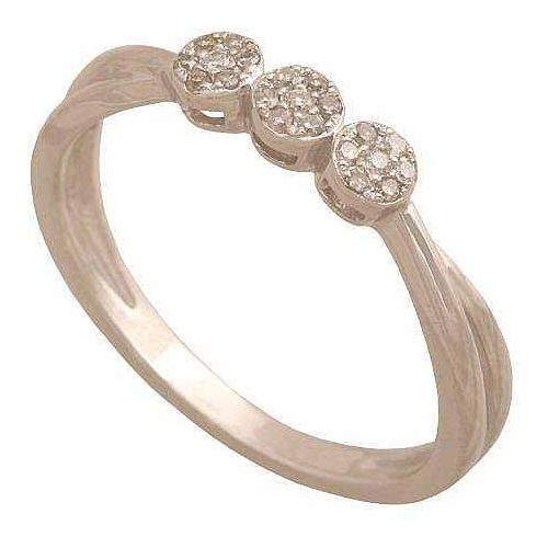 Pierścionek z białego złota z brylantami 30910, pierścionek Rodium