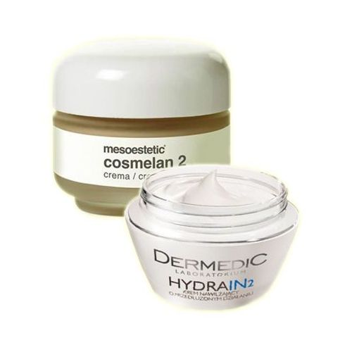 Mesoestetic - Cosmelan 2 Cream + Dermedic Hydrain 2 Cream - Cosmelan krem na przebarwienia + Krem intensywnie nawilżający GRATIS! - 30 ml+ 50 g - DOST - z kategorii- pozostałe kosmetyki do twarzy