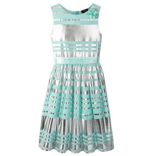 f5af02fd8e Sukienka na uroczyste okazje bonprix mentolowy - srebrny
