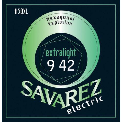 ex-light (676507) struny do gitary elektrycznej hexagonal explosion nickel ex-light.009-.042 marki Savarez