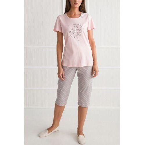 Bawełniana piżama damska 00-10-5728 154 różowa marki Vamp