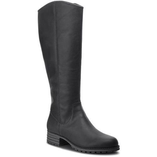 Oficerki - marana trudy 261372284 black leather marki Clarks