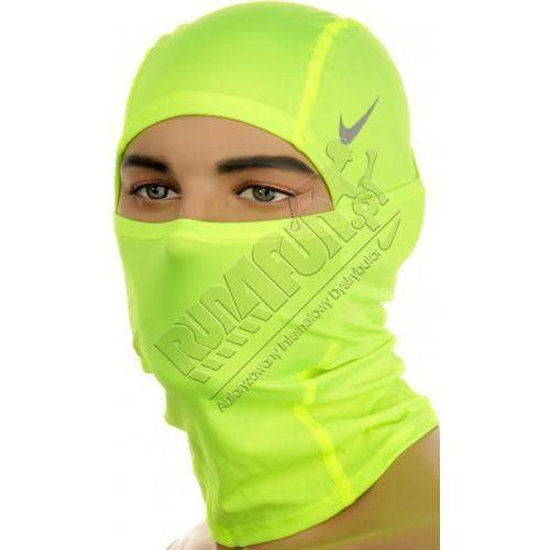 Kominiarka sportowa - Nike Pro Combat Dri-FIT Hood, kolor: fluorescencyjny żółty - produkt dostępny w Run4Fun.pl - Dystrybutor Nike