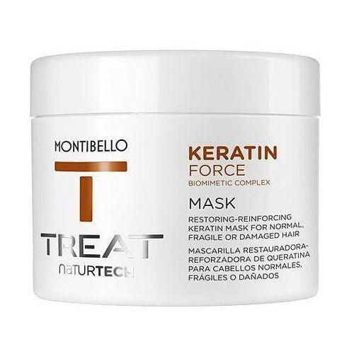 Montibello Keratin Force, termoochronna maska do zniszczonych, wzmacnia 200ml (8429525410507)