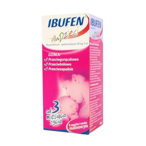 Ibufen zawiesina doustna o smaku malinowym 100g (lek Pozostałeleki i suplementy)