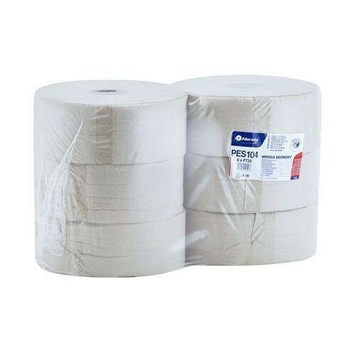 Papier toaletowy economy, 1 warstwa, makulatura - 6 rolek marki Merida