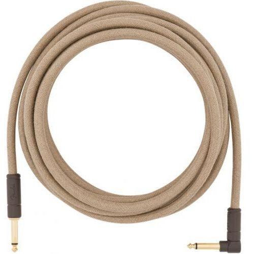 Fender Festival Pure Hemp Brown Stripe 18,6ft kabel gitarowy 5,6m, Jack prosty - Jack kątowy