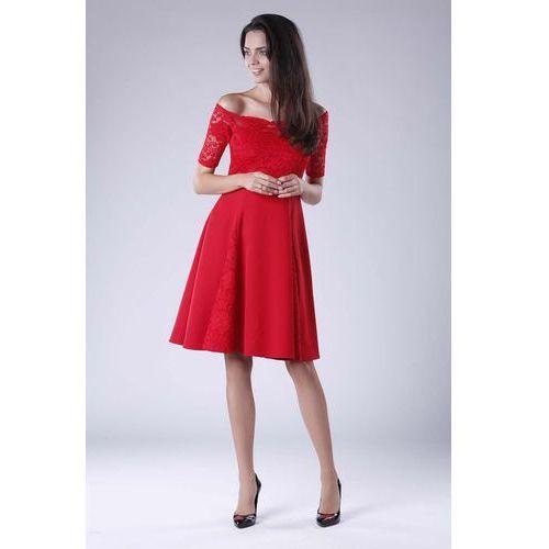 a9ebc25403596e Czerwona sukienka z koronki - sprawdź!