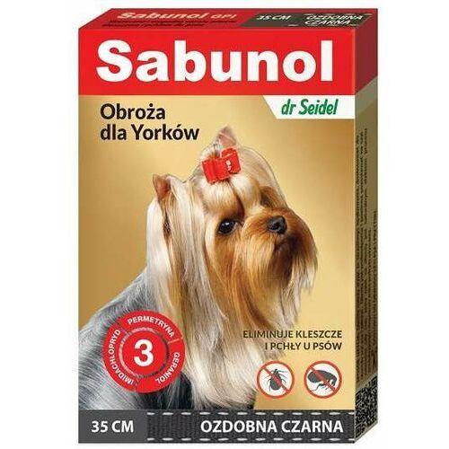 Sabunol Obroża ozdobna na pchy kleszcze dla psa 35cm CZARNA