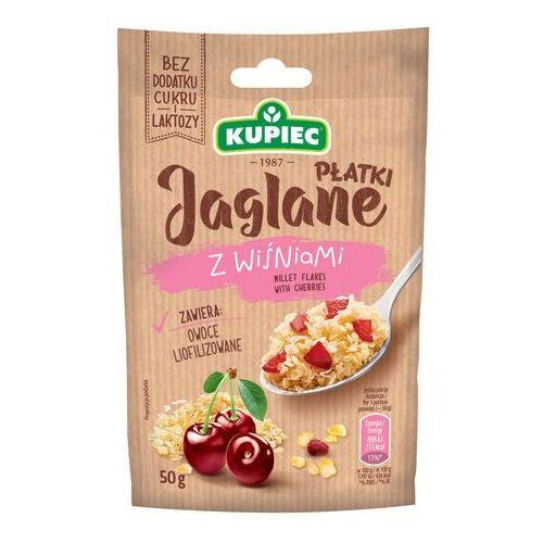 Płatki jaglane z wiśniami (folia) 50g (bez dodatku cukru i laktozy)