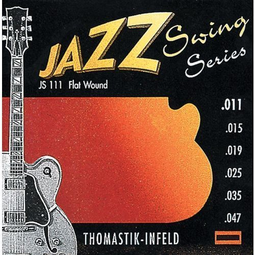 Thomastik JS111 (676717) Struny do gitary elektrycznej Jazz Swing Series Nickel Flat Wound Komplet