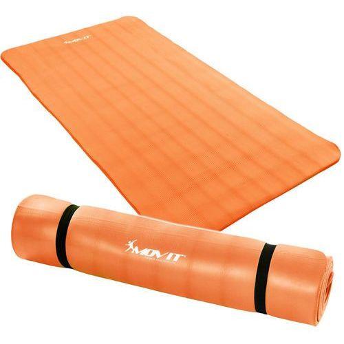 POMARAŃCZOWA MATA PIANKOWA 190x60x1,5cm DO ĆWICZEŃ / FITNESS - Pomarańczowy / 190x60x1,5 cm z kategorii materace, maty, karimaty