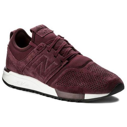 Sneakersy NEW BALANCE - MRL247LR Bordowy, kolor czerwony