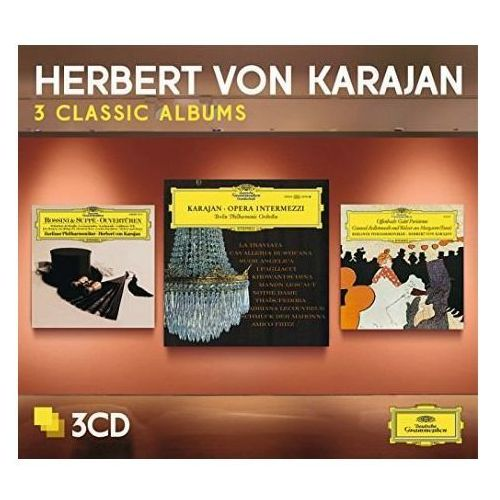 Universal music / deutsche grammophon 3 classic albums:opera intermezzi, offenbach, von suppe - herbert von karajan (płyta cd) (0028947934431)