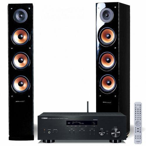 Yamaha Zestaw stereo r-n303d + pure acustic nova 8 czarny