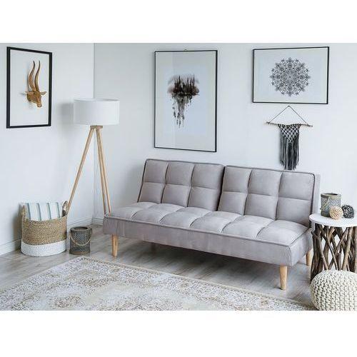 Beliani Rozkładana sofa siljan jasnoszara (4260602370512)