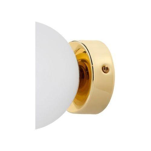 Kinkiet LAMPA ścienna MIJA 20764105 Kaspa modernistyczna OPRAWA szklana kula ball złote biała (5902047304057)