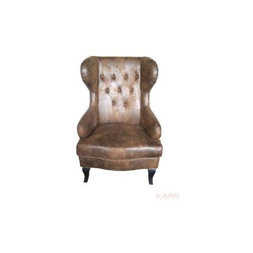 Modern Vintage Wing Vintage Fotel Brązowy Skóra Ekologiczna (77521), marki Kare Design do zakupu w sfmeble.pl
