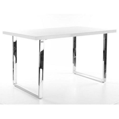 Signal Stół z białym blatem i metalową podstawą ring