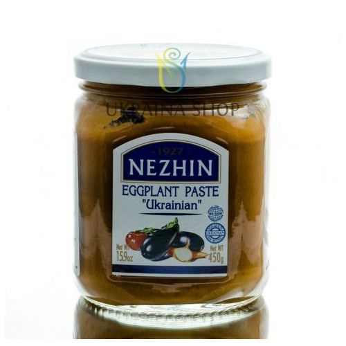 Pasta z bakłażana ukraińska, 450 g, marki Nezhin