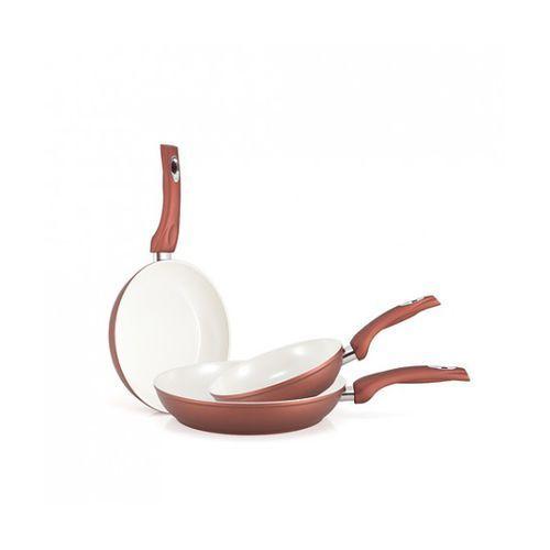 Zestaw 3 szt. patelni ceramicznych GOLD PREMIUM, produkt marki Aston