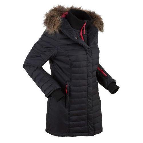 Długa kurtka outdoorowa pikowana czarny marki Bonprix