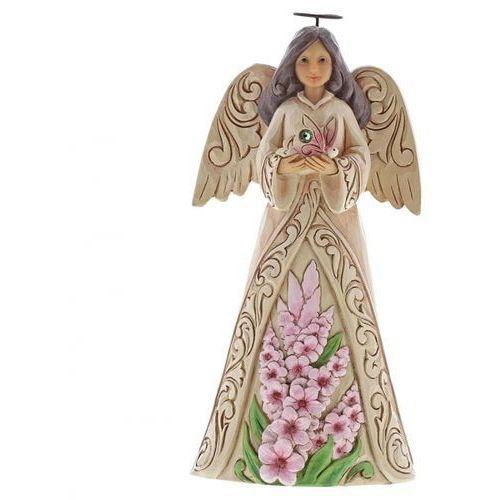 Anioł sierpień patron urodzonych w sierpniu monthly angel figurine august angel 6001569 , pamiątka narodzin, chrztu figurka dewocjonalia marki Jim shore