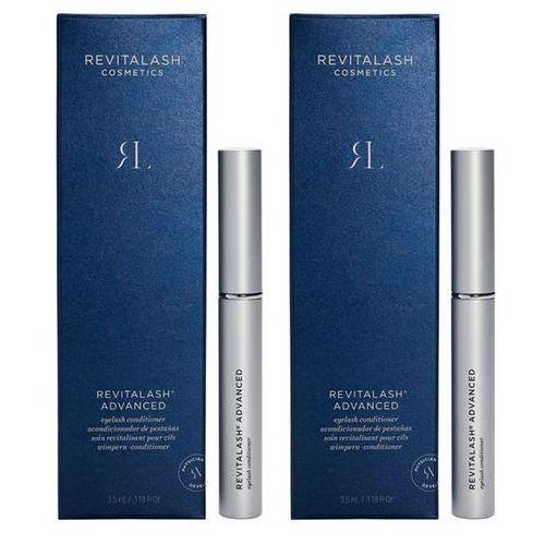 Revitalash eyelash advanced | zestaw: odżywka pobudzająca wzrost rzęs 2x3,5ml
