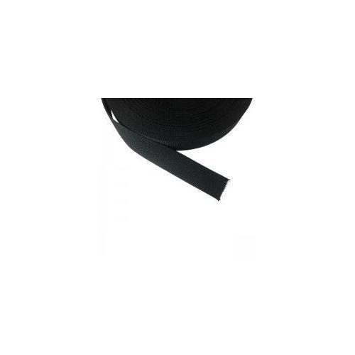 Taśma 25mm Polipropylenowa 50m gr.2mm Czarna