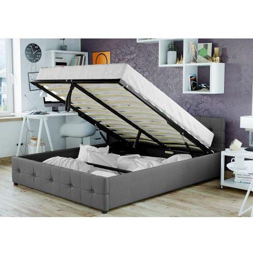 Łóżko tapicerowane materiałowe do sypialni 140x200 sfg012a popiel marki Meblemwm