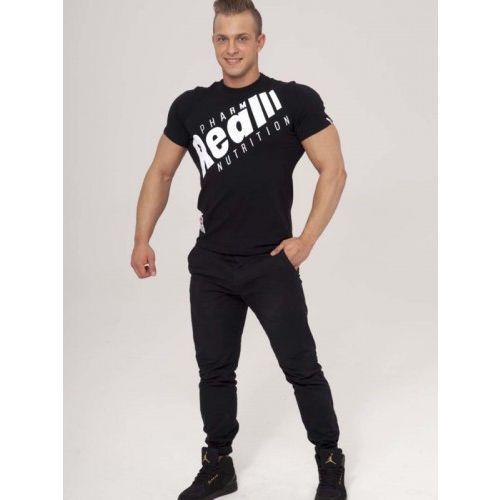 "Realpharm Real wear t-shirt ""sztanga"" czarny"