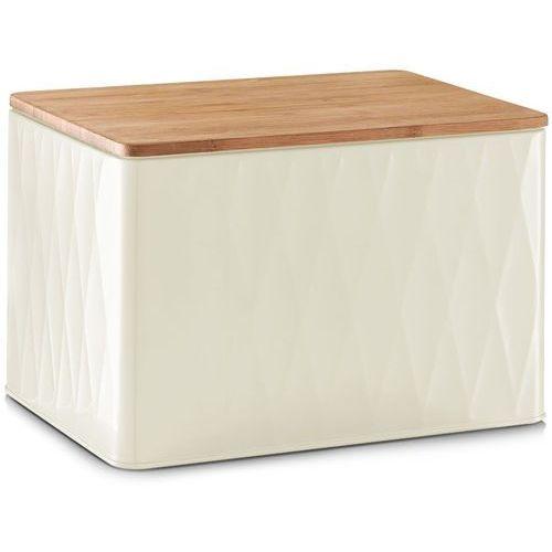 Metalowy chlebak z bambusową deską do krojenia, 2w1, 28x21x20 cm, ZELLER
