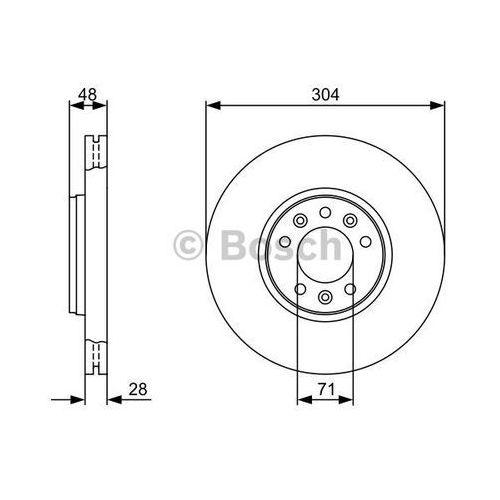 Bosch - tarcza hamulcowa (zestaw) (4047024309593)
