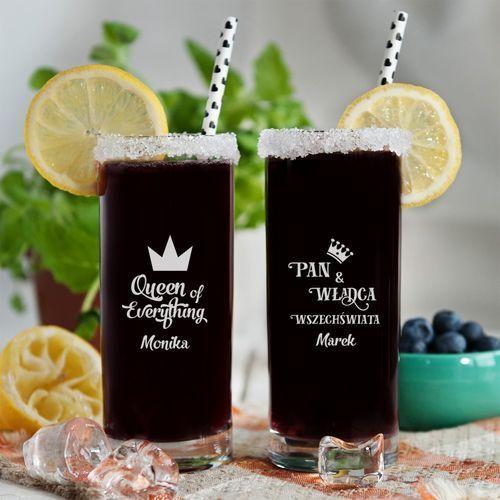 Mygiftdna Władca i królowa - dwie grawerowane szklanki - szklanki