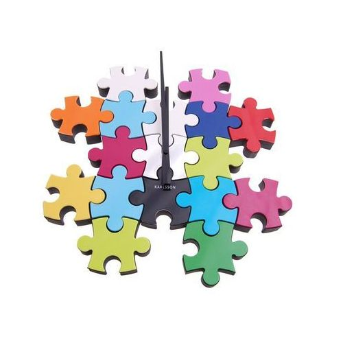 Karlsson Zegar ścienny do it yourself puzzle multi colour by